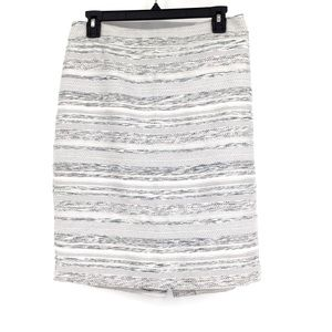 Ann Taylor Factory pencil skirt grey and white 4